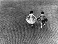 italy. rome. trastevere. dance of the dresses view from max scheler's apartment. 1953. by herbert list