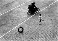 italy. rome. trastevere. view from max scheler's apartment. 1953. by herbert list