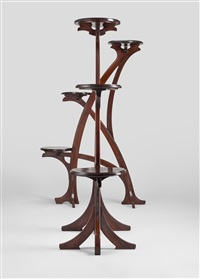 pair of large stands by gustave serrurier-bovy