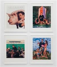 art magazine ads (art, flash art, art in america, and art forum) by jeff koons