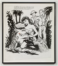 no title (if indeed it...) by raymond pettibon