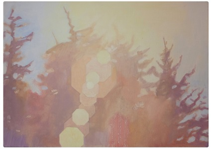 nine flare paintings with octagonal aperture 1 lr by alexander massouras