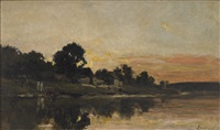 sunset by charles françois daubigny