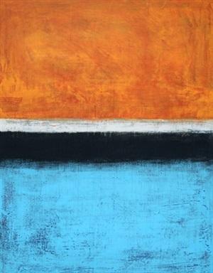late afternoon (orange, white, black & blue) by bradley narduzzi rex