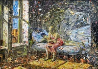 summer in the city, after edward hopper (pictures of magazine 2) by vik muniz