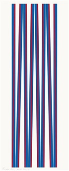 untitled (elongated triangles 1) by bridget riley