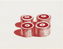 cherry cakes by wayne thiebaud