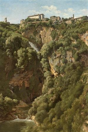 the waterfalls at tivoli by alexandre-francois caminade