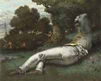 la sieste by gustave courbet