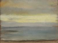 marine, soleil couchant by edgar degas