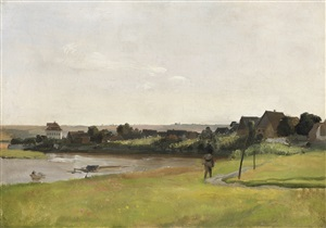 river elbe at übigau near dresden by christian friedrich gille