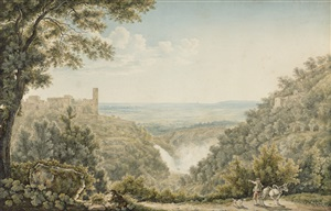 view of tivoli, rome by frantz keiserman