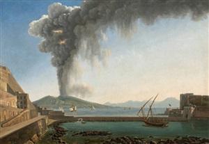 der ausbruch des vesuv im jahr 1813, neapel /<br>the 1813 eruption of vesuvius, naples by alexandre hyacinthe dunouy