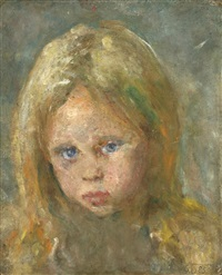 portrait of a young girl by edvard munch