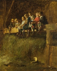 barn swallows by eastman johnson