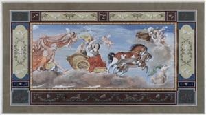 aurora, after guido reni; aurora, after guercino, a pair by michelangelo maestri