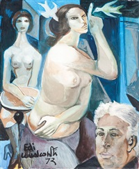auto-retrato com mulheres by emiliano di cavalcanti