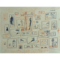 the collection of small pictures by pablo picasso