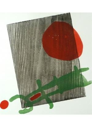 affiche pour l'exposition du livre a toute epreuve à la galerie berggruen by joan miró