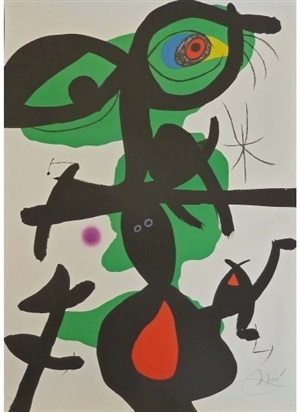 plate ix, from oda á joan miró by joan miró