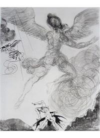 icarus, from mythologie by salvador dalí