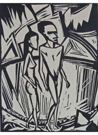 couple by the sea by erich heckel
