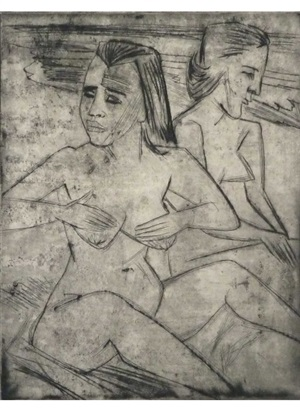 after the bath, from die schaffenden by max pechstein