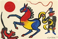 tricolored horse by alexander calder