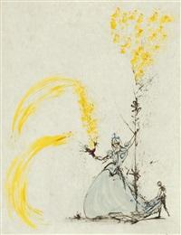 la fille au page (girl with a page, from les amours de cassandre) by salvador dalí