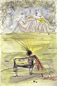 le delire du chevalier a genoux by salvador dalí