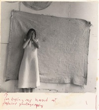 i'm trying my hand at fashion photography, providence, rhode island (p.076.5) by francesca woodman