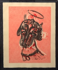 untitled / man ray devil angel dog by william wegman