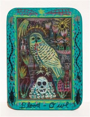 blood owl by tony fitzpatrick
