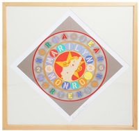 lot 360: the metamorphosis of norma jean mortenson (framed) by robert indiana