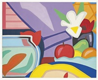 still life with blonde and goldfish by tom wesselmann