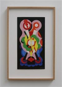 composition sur les mots, ange, lion, fauvette by auguste herbin
