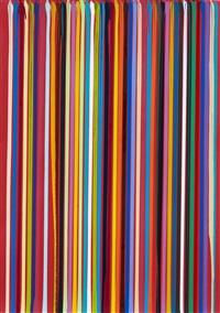 poured lines study: guardsman red by ian davenport