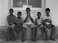 village kids singing and five young villagers have no iphone by araya rasdjarmrearnsook