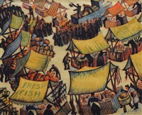 market day by sybil andrews