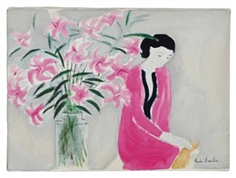 chantal with bouquet by andré brasilier