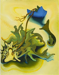 blue boat by inka essenhigh