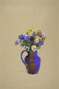 pensées dans un vase by odilon redon