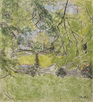 in the grounds at le clayes by edouard vuillard
