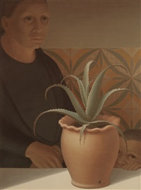 pot of aloes by george tooker