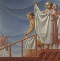 the laundress by george tooker