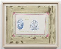 untitled (woodgrain, scaley bulb) by ree morton