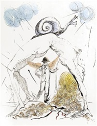 femme a l'escargot (woman with snail) by salvador dalí