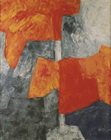 gris et rouge by serge poliakoff
