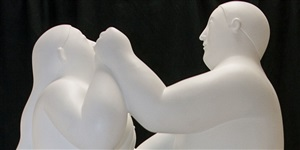 dancing couple (detail) by fernando botero