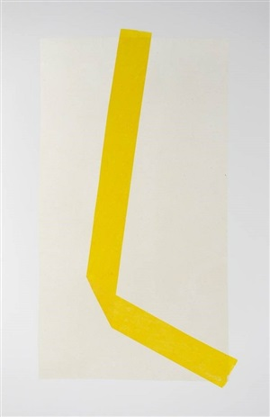 continious line drawing intitled (yellow) by jill baroff
